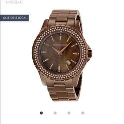 Michael Kors Accessories | Michael Kors Rose Goldbrownish Watch (Mk-5640) | Color: Gold/Pink | Size: Os