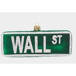 Wall Street Sign Polish Glass Christmas Ornament New York City Decoration NYC