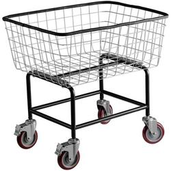 VEVOR Wire Laundry Cart 2.2 Bushel, Wire Laundry Basket with Wheels 20''x15.7''x26'', Commercial Wire Laundry Basket Cart, Galvanized Steel Frame with 5'' Casters, Wire Basket Cart for Laundry