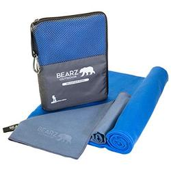 BEARZ Outdoor Quick Dry Towel Travel Towel, Ultra Compact Camping Towel, Workout Towel, Microfiber Towel, Camp Towel, Microfiber Travel Towel, Towels for Beach Gym Hiking (Navy Blue)