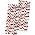 50 Casino Card Theme Paper Straws
