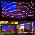 Led Flag Net Lights of The United States, American Flag String Light For Christmas,Festival, Holiday, Independence Day, Memorial Day, Garden, Yard, Indoor And Outdoor