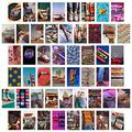CY2SIDE 50PCS Retro 80s Aesthetic Picture for Wall Collage, 50 Set 4x6 inch, Colorful Collage Kit, Retro Room Decor for Girls, Wall Art Prints for Room, Dorm Photo Display, VSCO Posters