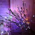 MUXAN 60 Led Lights Twig Branches, 3 Pack Lighted Tree Branches Battery Operated Room Bendable LED Branch Lights with 20 LED Lights for Christmas Home Holiday Party Decoration YA09049 (Colorful)