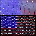 American Flag String Lights, 6.5ft×3.3ft Outdoor Indoor Light USA Flag Net Lights for Independence Day , National Day, Christmas Day, Festival Party Decor