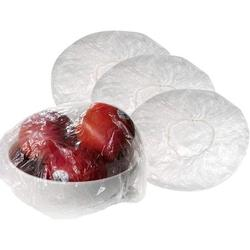 100Pcs Reusable Clear Elastic Plastic Bowl Covers, Transparent Plastic Food Plate Covers with Elastic Edging, Stretchable Plastic Food Wraps, Elastic Covers for Fruits Leftovers