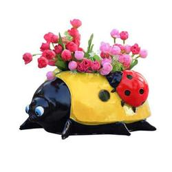 Ladybug Flower Pot Decoration, Cute Plant Pots, Simulation Animal Flowerpot Decor for Home Office Desk, Outdoor and Garden Decor Patio Yard Planter Flower Pot