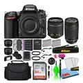 Nikon D750 Digital Camera with Dual Lenses (1543) + 64GB SD Card + Bag (Intl)