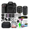 Nikon D7500 Digital Camera with Dual Lenses (13543) + 64GB SD Card + Bag (Intl)