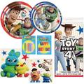 Toy Story Kids Birthday Party Tableware Supplies Includes Dinner Plates, Dessert Plates, Lunch Napkins, Beverage Napkins, 1 Table Cover, Happy Birthday Candles, AND 20 More Candles!