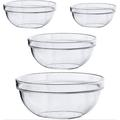 tokyolongco 4-Pack Set Clear Acrylic Mixing Bowl Set - Salad Serving Containers - Party Snack Bowls, Size 0.8 W in | Wayfair 046KJK07TV2259R