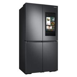 "Samsung 35.88"" Counter Depth French Door Refrigerator 22.5 cu. ft. Smart Energy Star Refrigerator w/ Family Hub & Beverage Center in Black | Wayfair"
