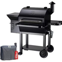 Z Grills Zpg-10002b 2020 New Model Wood Pellet Grill & Smoker, 8 In 1 Bbq Grill Auto Temperature Control, 1060 Sq In Black   Wayfair