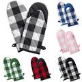 Yipa Plaid Oven Mitts Pot Holders Buffalo Checkers Plaids Oven Glove Hot Pads Cooking Kitchen Heat Resistant Oven Gloves for Microwave BBQ Baking Grilling Gifts