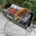 """23.5"""" Foldable BBQ Grill, Portable Charcoal Barbecue Camping Picnic Grill Stove Outdoor, Handle Design, Folding Grill Barbecue Kits for Cooking Camping Hiking Picnic Garden Patio Travel"""