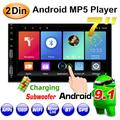 2Din 7'' car audio Andriod 9.1 Car Multimedia Player GPS Navigation Car Audio Wifi 4USB FM MirrorLink Car Audio Radio Stereo Autoradio car intelligent system,with 12LED camera
