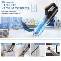 Handheld Vacuum, Beenate Car Vacuum Cordless, Vacuum Cleaner 7Kpa Cordless Vacuum Cleaner Portable Wet Dry Vacuum Cleaner