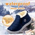 MCCKLE bottes de neige femmes chaussures chaud en peluche fourrure bottines hiver femme sans lacet