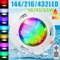 Lampe LED sous-marine pour piscine, 36/45/65W, rvb, couleur changeante, imperméable conforme à la