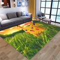Tapis de sol en Polyester imprimé Pikachu, dessin animé Pokemon, tapis de sol absorbant en velours