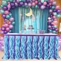 Jupe de Table en forme de sirène, décoration de Table en Tulle pour mariage, anniversaire, fête