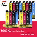 HTL T603 T603XL E-603XL compatible cartouche d'encre pour Epson WorkForce WF-2810DWF WF-2830DWF