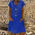 Robes d'été Pour Les Femmes 2020 Vintage Robe Robes Robe T-shirt En Coton Décontracté Grande Taille