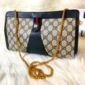 Gucci Bags | Gucci Vintage Clutch Converted To Sling Bag | Color: Black/Blue | Size: Os