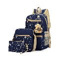 Lowestbest Elementary School Backpack for Kids/Children, Fashion Canvas Backpack for Girls/Boys, 3 Pcs Backpacks for Middle School