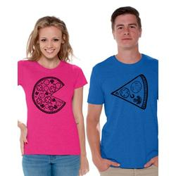 Awkward Styles Pizza Couple Shirts Funny Matching Pizza Shirts for Couples Pizza Slice T Shirt for Couples Valentine's Day Couple Outfits Cute Gift for Pizza Lovers Pizza Couples Matching Shirts