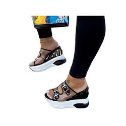Rotosw Women Fashion Sandals Wedge Heel Slippers Mules Platform Breathable Casual Shoes