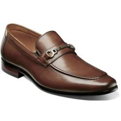 Florsheim Postino Moc Toe Bit Slip On Cognac Dress Shoes 15184-221