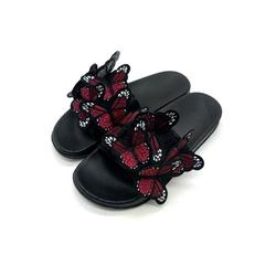 Daeful Women's Fashion Slippers Flat Heel Sandals Backless Casual Shoes Butterfly Decor Women's Fashion Slippers Flat Heel Sandals Backless Casual Shoes Butterfly Decor