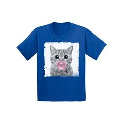 Awkward Styles Funny Cat Blowing Gum Shirt Cat Lovers Lovely Gifts for Kids Funny Animal Youth Shirt Cute Animal Lovers Clothes New Kids T Shirt Gifts for Kids Little Cat Clothing Childrens Outfit