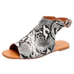 MIARHB Summer Womens Open Toe Platform Casual Shoes Solid Color Zipper Wedges Sandals