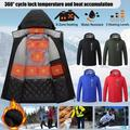 UKAP Men's Heated Jacket Full Zip with Detachable Hood Washable Winter Body Warmer (Battery is Not Included) Unisex Women Lightweight Heating Coat Clothing