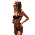Mlpeerw Women Bikini Sets Padded Bra Tops Thong Bottoms Swimwear Swimsuit Set