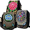 Fashion Women Backpack Embroidery Handmade Dragonfly Shoulder Bag Mini Lovely Backpacks for Ladies Girls Teenages