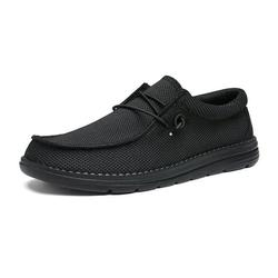 Bruno Marc Men's Comfort Tennis Shoes Casual Slip-on Loafers Lightweight Stretch Shoes Outdoor Indoor Sneakers BLS211 BLACK Size 7