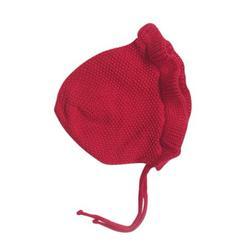 Baby Hat Bonnet Spring Autumn Handmade Wool Ear Knitting Hats Newborn Baby Fashion Warmer Caps Kids Hats 1Pc Red