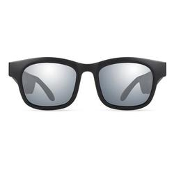 Upgraded Bluetooth Sunglasses Wireless Music Glasses Lens Portable Outdoor Noise Reduction Open Headphone, Silver