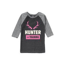 Hunter In Training Girl - Toddler Raglan