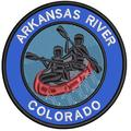 Applique Outdoors Rafting The Arkansas River Theme Iron/Sew On Decorative Patch Funny Saying Biker Emblem