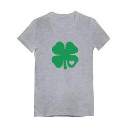 Tstars Girls Green Clover Heart St Patricks Day Gift Shamrock Kids St Patricks Day Shirts Gift for Girls Irish Shirt Pride Proud Irish Toddler Girls Fitted T Shirt