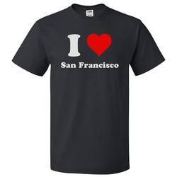 I Heart San Francisco T-shirt - I Love San Francisco Tee Gift
