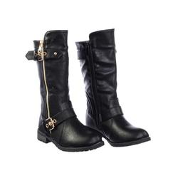 Safety52k by Forever Link, Children's Harness Strapped Boots - Little Girls Mid Calf Heel Shoes