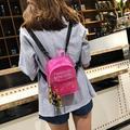 Puloru Women Mini Backpack PVC Shoulder School Rucksack Ladies Girls Travel Bag