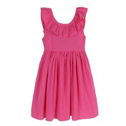 Luxsea Summer Baby Girls Casual Flare Sleeve Bow Dress Children Cute Solid Sleeveless Sundress Outfits A-Line Party Dress for 1-6 Years Kids