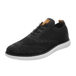 Bruno Marc Mens Fashion Sneakers Lightweight Casual Work Shoes Comfort Tennis Athletic Shoes For Men GRAND-02 BLACK/GREY Size 8
