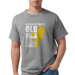 CafePress - Old Man With A Pickleball Paddle T Shirt T-Shirt - Mens Comfort Colors® Shirt